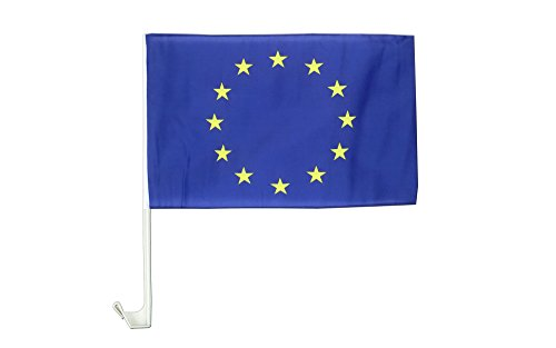 AUTOFAHNE EUROPÄISCHE UNION 45x30cm - EUROPA AUTOFLAGGE 30 x 45 cm - AZ FLAG Auto flaggen