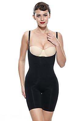 Franato Women's Firm Control Slimming Bodysuit Wear Your Bra Best Body Shaper