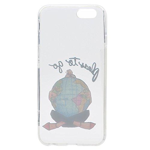 Per iPhone 6 / iPhone 6S Cover , YIGA spiaggia di sabbia ragazza Sottile Cristallo Chiaro Case Trasparente Silicone Morbido TPU Custodia per Apple iPhone 6 iPhone 6S (4.7) TT11