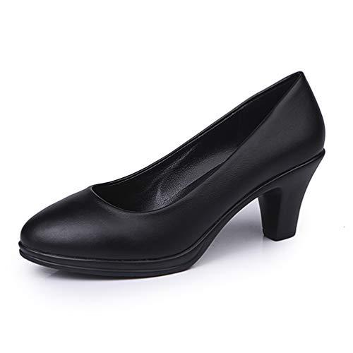 Frauen High Heels Schuhe Frühling Herbst Slip on Office Classics Damen Kleid Bootsschuh Spike Pumps mit Absatz - Spike Heel Classic Pump