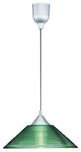 leuchte mit Riefenglas in grün-transparent exklusive 1 x E27 max. 60 W, ø 30 cm, Länge: 125 cm 301400115 ()