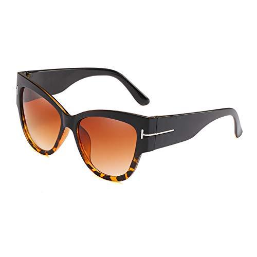 Yuanz Marke Damen Übergroße Cat Eye Sonnenbrille Frauen Big T Frame Gradient Sonnenbrille Weibliche Uv400,W