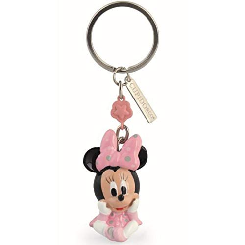 Disney original portachiavi minnie rosa 3d in resina 9.5 bomboniera