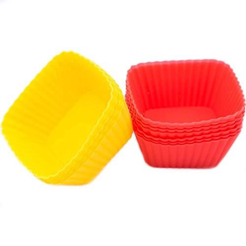 SULUO 3 stücke Cupcake Liner Form Muffin Blume Silikon Tasse Kuchen Backformen Backen Gebäck Werkzeuge Küche, Platz - Blumen Cupcake-liner