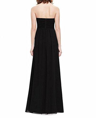 Leader de la beauté Sweetheart décolleté froncé Femme Longue robe pour soirée déguisée Noir - Noir