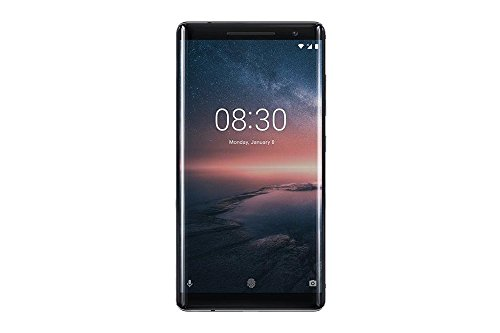 Nokia 8 Sirocco Smartphone, 5.5 OLED, 128 GB ROM, 6 GB RAM, 12 + 13 MP, Single SIM, Android 8 Oreo, Nero