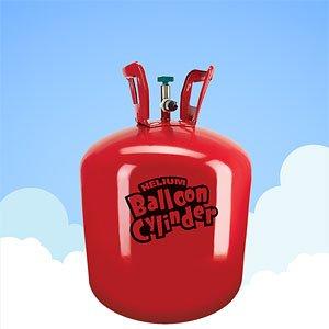 Cilindro de gas pequeño Helium King: llena 30 globos
