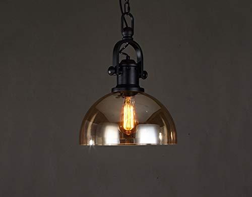 DEED Einfache Moderne persönlichkeit lampen, Retro kronleuchter Industrie Stil 1 licht Bernstein Glas deckenleuchte kreative leuchten bühne dekorative Lichter - Bernstein Metall-stehlampe