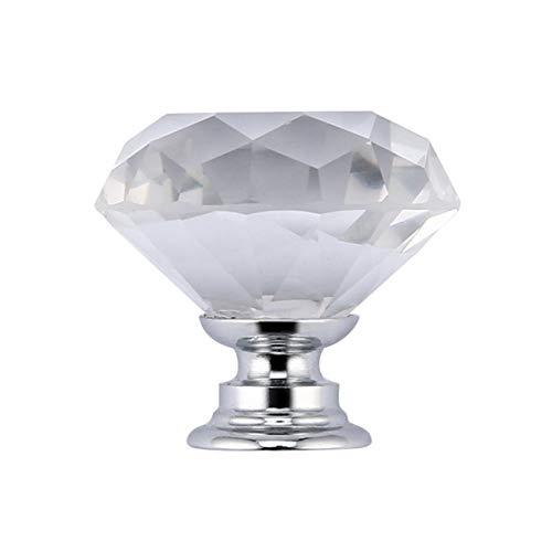 Yaoaomon 30MM Größe Kristallgriff einzeln klar (Schrank Türgriffe Klar)