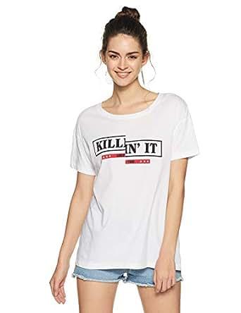 VERO MODA Women's Striped Regular Fit Shirt (1953225002_1953225002_Bright White_XS)