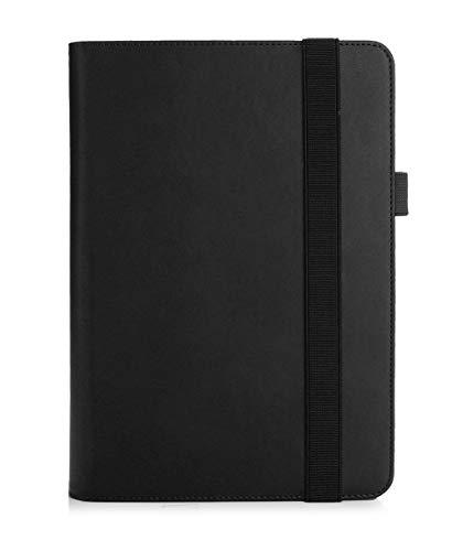 Convertible Tablet-fall (ISIN ASUS T102HA Hülle, ASUS Transformer Mini T102HA 10,1 Zoll Convertible Tablet-PC Schutzhülle Tasche Stand Cover mit Handschlaufe,Stift Halter und Kartenschlitz (Schwarz))