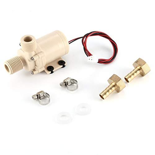 12V pumpe, 12V 3M Solarwasserpumpenumwälzloser bürstenloser Motor 212 F w/Koppler Heiß- / Kühlwasserumwälzpumpe für zu Hause Solaranlagen