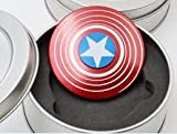 #7: Garner Hand Fidget Spinner Captain America/It Is Easy To Carry/Small In Size/Simple To Play And Also Effective For Focus And Deep Thought/Let's Play!