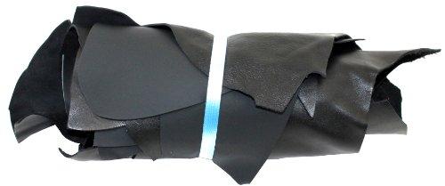 Lederstücke mittel 1 kg schwarz - alle Stücke mind. DIN A4 von Langlauf Schuhbedarf