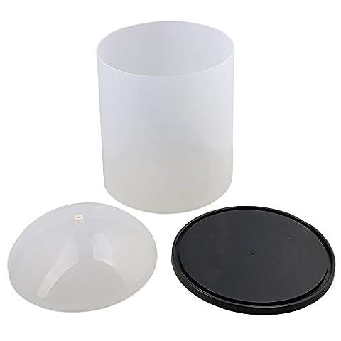Cnbtr D22.5X h30cm PVC anti-poussière Fluide Surface transparente Translucide émaillé Fil Coque Dessus du Capot avec Porcelaine œil et