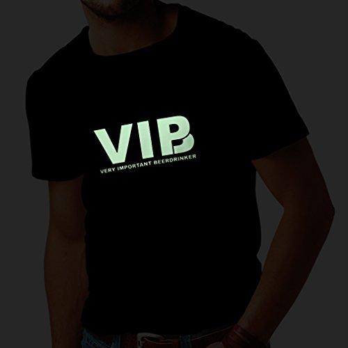 N4046 T-shirt da uomo Very Important BeerDrinker gift Nero Fluorescente