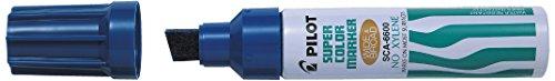 Pilot Supercolour Faserschreiber Breite und breiten Permanent Marker Meißel 3,0mm Tipp-blau, Single Pen -
