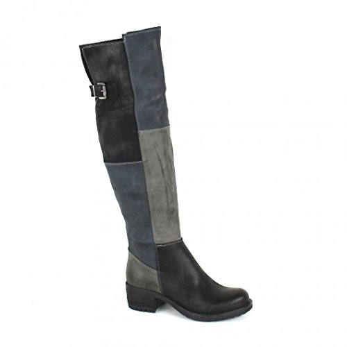 Pao Cuissardes cuir nubuck noir/gris Noir/gris