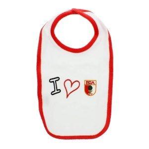 Preisvergleich Produktbild FC Augsburg Lätzchen I love FCA Weiss Rot