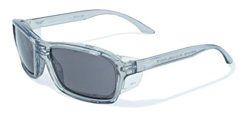Global Vision Eyewear Sonnenbrille RX Serie mit xylex glänzend Kristall Grau Rahmen und Smoke Sicherheit Objektive