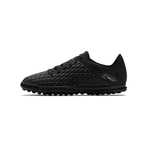 Nike Jr Hypervenom 3 Club Tf, Scarpe da Calcetto Indoor Unisex-Bambini, Nero Black 001, 38 EU