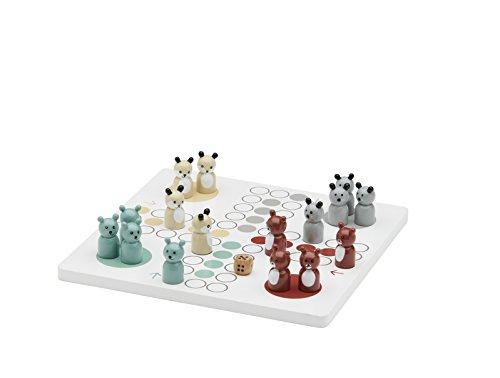 Kids Concept Brettspiel Waldtiere Edvin / 4 Spieler / 4 Tierfiguren Bär, Otter, Maus Lemming aus Holz (Lemmings Tiere)