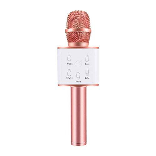Elenxs Q7 Magie Karaoke Mikrofon Telefon KTV Player Drahtlose Bluetooth MIC Lautsprecher Musik - Magie Et Singen