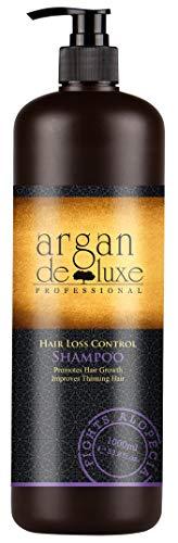 Arganöl Haarwachstums Shampoo in Friseur-Qualität ✔ Effektiv gegen Haarausfall ✔ Stärkend, Regenerierend, Wachstumsfördernd ✔ Argan DeLuxe, 1000ml (Für Shampoo Biotin Haare Die)