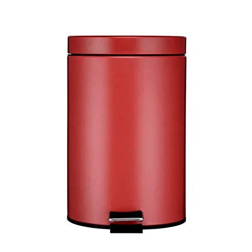 LJT Küche/Schlafzimmer / Büro Mülleimer, Schritt Mülleimer, Abfalleimer mit Deckel Edelstahl Mülleimer für Badezimmer,GG (Groß Küche Schritt Mülleimer)
