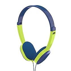 Hama Kinderkopfhörer Kids (Lautstärkebegrenzung 85 dB, On-Ear Ohrhörer, begrenzt, ultraleicht, verstellbare Bügel, Kinder-Kopfhörer für Tip-Toi Stift geeignet, für Jungen ab 4 Jahre) blau/grün
