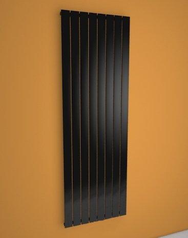 LAURIN - Radiateur vertical - Chauffage électrique - Design moderne - Régulateur thermostatique inclus - Design Plat 1800 x 602mm - Noir - 1200 watts - kit de fixations murales fourni