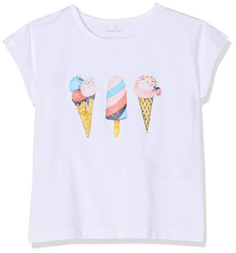 NAME IT Mädchen Nmfjamma Ss Top Box T-Shirt, Weiß (Bright White), (Herstellergröße: 104) (Eis-mädchen Das)
