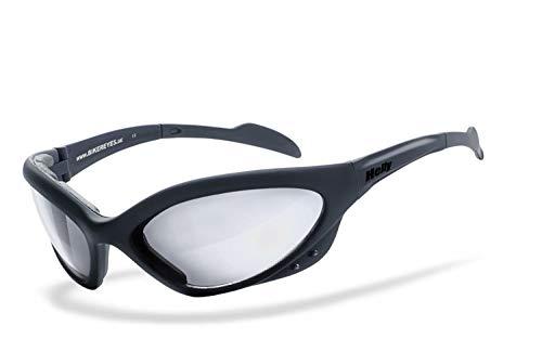 Helly® - No.1 Bikereyes® | beschlagfrei, winddicht, selbsttönende HLT® Kunststoff-Sicherheitsglas nach DIN EN 166 | Bikerbrille, Motorradbrille, Sportbrille | Brille: speed king 2