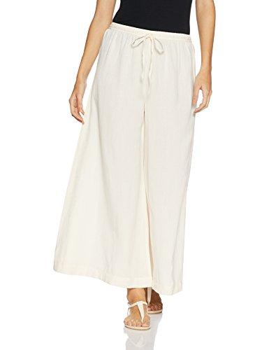 Amazon Brand -Myx Women's Culotte (AW17Flax Palazzo A_Off-White_M)