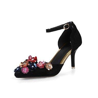 Rtry Mujer Tacchi Orsay & Amp; Zapatos De La Niña De Las Flores De La Novedad De Dos Piezas Zapatos Personalizados De Terciopelo Spring Wedding Wedding Party & Amp; Vestido De Noche Us5.5 / Eu36 / Uk3.5 / Cn35