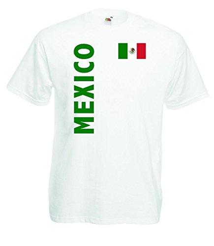 world-of-shirt Mexico Herren T-Shirt Fan Trikot WM 2014|w-m -