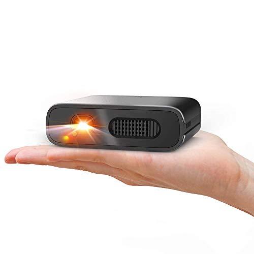Mini-Beamer, tragbar, 1800 Lumen, DLP, unterstützt WiFi/BT/HDMI/USB, mit integriertem Lautsprecher, ideal für Film/Video/Gaming, kompatibel mit iOS/Android, praktisch für unterwegs und Reisen 1800 Video