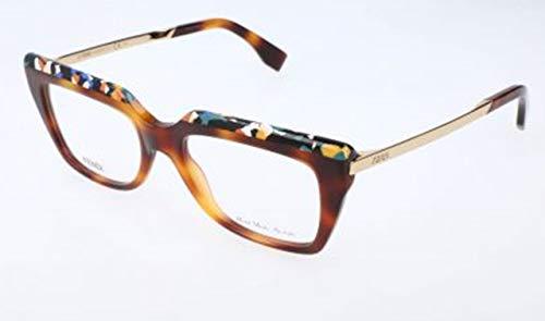 Fendi Damen FF 0088 CUA/18-51-18-140 Brillengestelle, Braun, 51