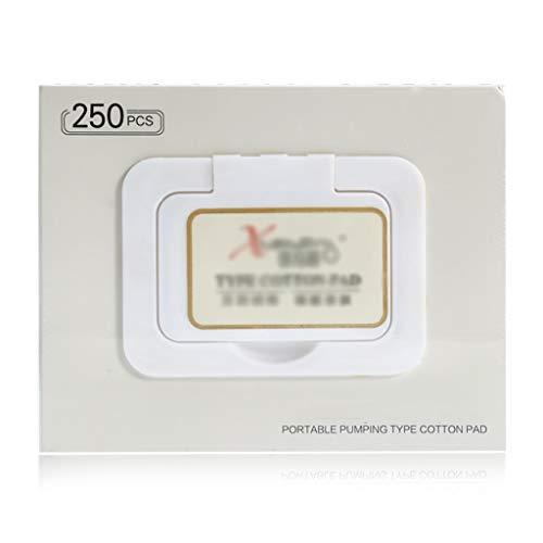 l Make-Up Wattepad / Entferner Baumwolle Gesicht Abwischen Tiefenreinigung Baumwolle Hautpflege Gesicht Waschen Papier Kosmetik Werkzeuge ( Color : White , Größe : 5.7*11*13.8cm ) ()