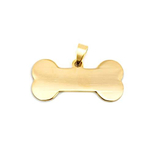 Hundeknochen-Anhänger für kleine Kätzchen, Welpen, Haustiere, blanko, für Aufdruck, spiegelpolierter Edelstahl, 50 Stück Einheitsgröße 19x40 Gold - Kreis Öl-diffusor