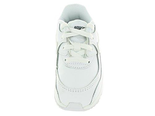 Nike Air Max 90 Ltr (Td), Scarpe sportive Unisex - Bimbi 0-24 Bianco / Grigio (White / White-Cool Grey)