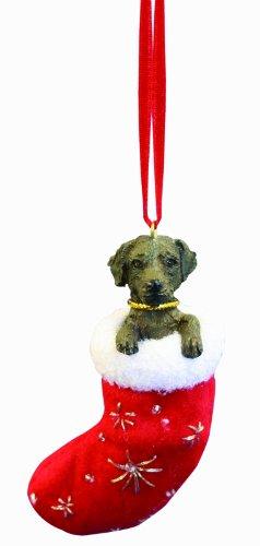 Schokolade Labrador Weihnachtsstrumpf Ornament mit