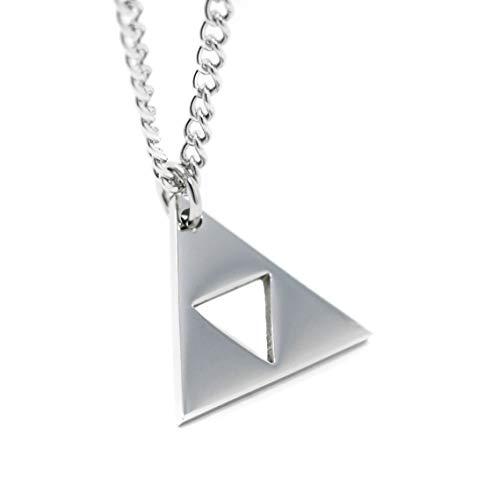 Legend of Zelda Trifuerza collar con colgante en forma - 18 K acero inoxidable bañado en oro … (Acero inoxidable)