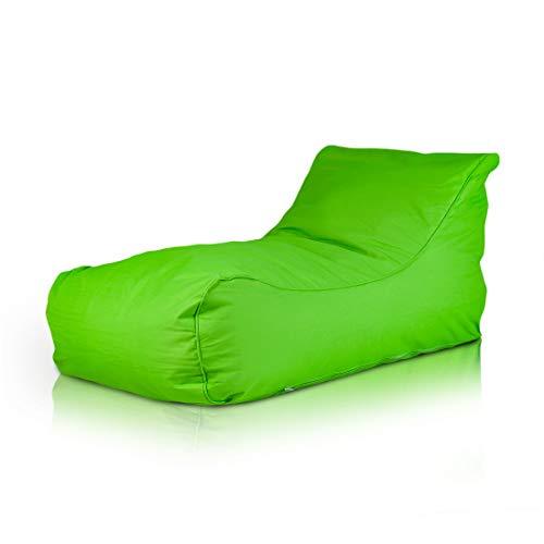 Ecopuf Master Chaiselongue mit abnehmbarem Bezug Relaxliege Sitzsack Sessel in Wasserdicht Oxford 600D Polyester für Outdoor (Grün) -