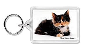 Nette Tortie Kitten 'Love You Mum' Foto Schlüsselbund TierstrumpffüllerGeschenk