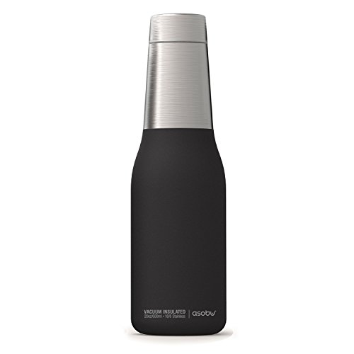 ASOBU Oasis Vakuum Isoliert doppelwandig Klauenhammer, Wasser Flasche, schwarz