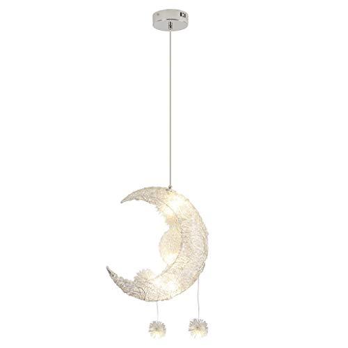 Éclairage De Maison,TianWlio Éclairage Suspension Moderne Plafond Lampe Étoile Et Lune Enfants Pièce Décor