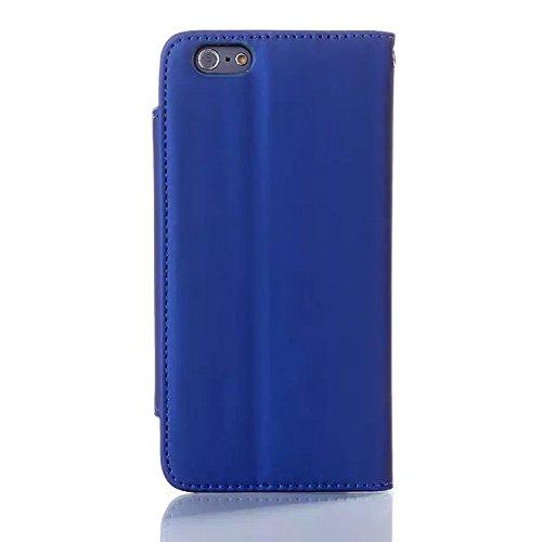 """inShang Hülle für Apple iPhone 6 iPhone 6S 4.7 inch iPhone 6 iPhone 6S iPhone6 iPhone6S 4.7"""", Cover Mit Modisch Klickschnalle + Errichten-in der Tasche, PU Leder Tasche Skins Etui Schutzhülle Ständer  sleek blue"""