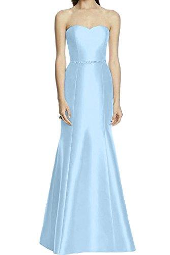 Ivydressing Damen Traegerlos Neu 2017 Herzform Satin Meerjungfrau Promkleider Bodenlang Ballkleider Abendkleider Hellblau