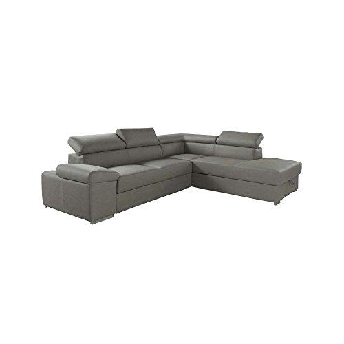Wepoint divano letto angolare in ecopelle con penisola a dx 280x103xh.73 cm